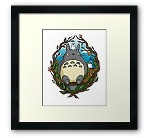 Totoro and friends Framed Print