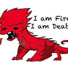 Baby Smaug - I am Fire, I am Death by JZanderK