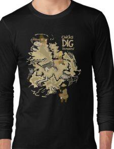 Chicks Dig Dinosaurs Long Sleeve T-Shirt