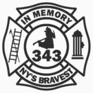In Memory of NY 343 style BLK by thatstickerguy
