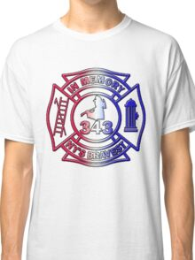 In Memory of NY 343 Style Patriotic Classic T-Shirt