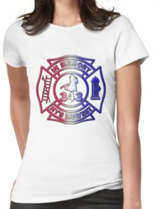 In Memory of NY 343 Style Patriotic Womens Fitted T-Shirt