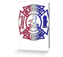 In Memory of NY 343 Style Patriotic Greeting Card