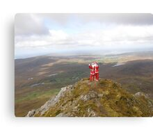 Santa on Errigal Mountain Donegal Ireland Canvas Print