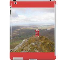 Santa on Errigal Mountain Donegal Ireland iPad Case/Skin