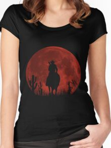 Lonesome Cowboy (v2) Women's Fitted Scoop T-Shirt