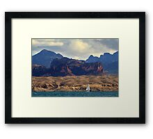 Sailing Past The Sleeping Dragon Framed Print