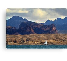 Sailing Past The Sleeping Dragon Canvas Print