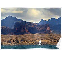Sailing Past The Sleeping Dragon Poster