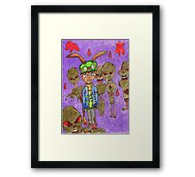 who invited the zombie rabbit's Framed Print