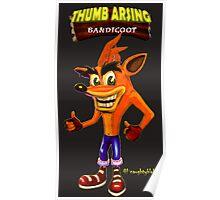Thumb Arsing Bandicoot Poster