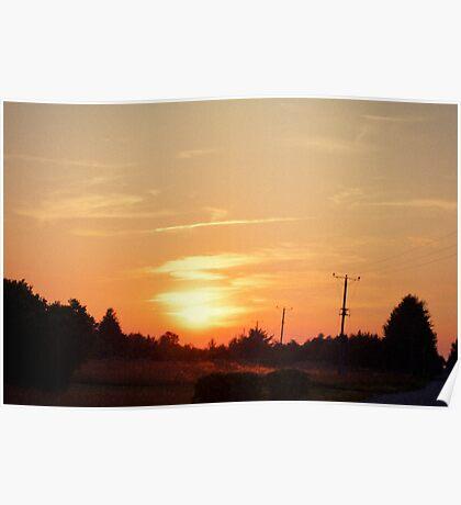 Sunset in Reigi Poster