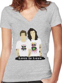 Larry Stylinson 4 Women's Fitted V-Neck T-Shirt