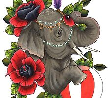 Circus Elephant by Courtney James