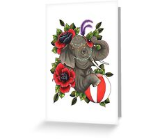 Circus Elephant Greeting Card
