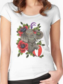 Circus Elephant Women's Fitted Scoop T-Shirt