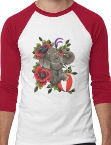 Circus Elephant Men's Baseball ¾ T-Shirt