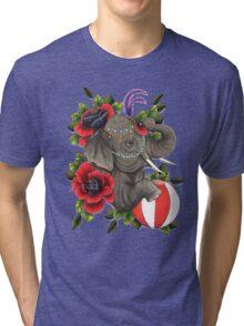 Circus Elephant Tri-blend T-Shirt