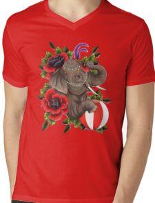 Circus Elephant Mens V-Neck T-Shirt