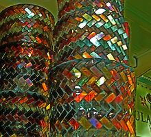Six Beautiful Stained Glass Candle Cups by Jane Neill-Hancock
