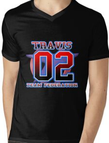 Team Federation: TRAVIS Mens V-Neck T-Shirt