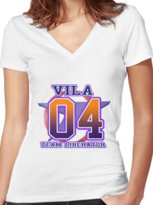 Team Federation: VILA Women's Fitted V-Neck T-Shirt