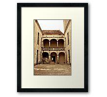 Cour de château Framed Print