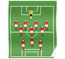 Soccer team, football players in red Poster