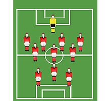 Soccer team, football players in red Photographic Print