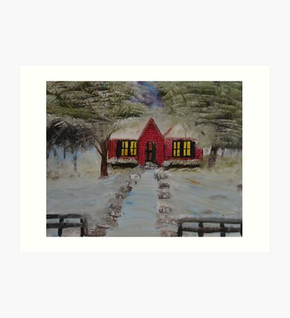 """Christmas House""  by Carter L. Shepard Art Print"