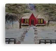 """Christmas House""  by Carter L. Shepard Canvas Print"