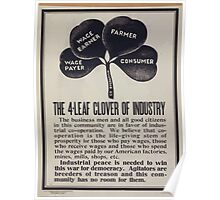 The 4 leaf clover of industry 002 Poster