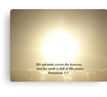 """Habukkuk 3:3""  by Carter L. Shepard Canvas Print"