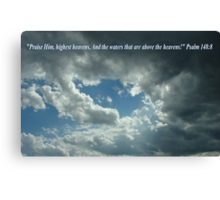 """""""Psalm 148:8""""  by Carter L. Shepard Canvas Print"""