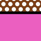 Pink and Brown Polka Dot Case by Jenifer Jenkins