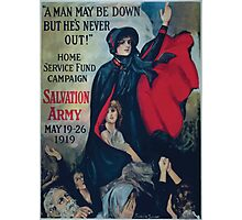 A man may be down but hes never out! Home Service Fund Campaign Salvation Army May 19 26 1919 Photographic Print