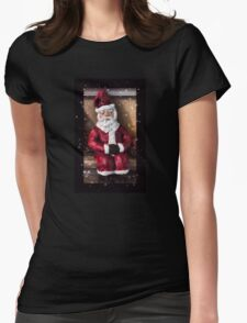 Clay Santa  Womens Fitted T-Shirt
