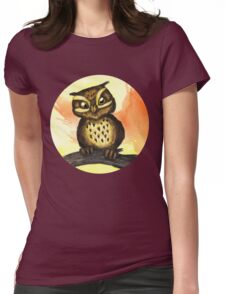 Cute owl. Womens Fitted T-Shirt