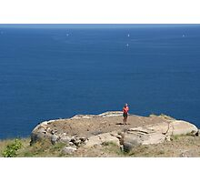 Tourist in Collioure, France Photographic Print