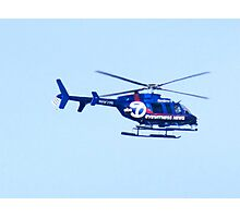 News copter overhead ! Bronx, New York City  Photographic Print