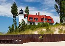Pointe Betsie Lighthouse, Michigan by Kenneth Keifer