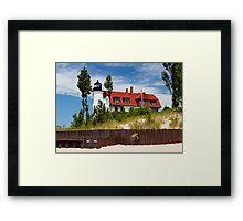 Pointe Betsie Lighthouse, Michigan Framed Print