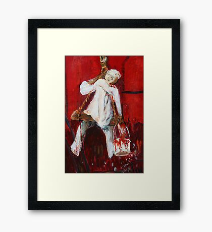 Red Fort Painter - Painting Framed Print