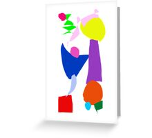 Amazing Longboard Surfing on the Clear Water Greeting Card