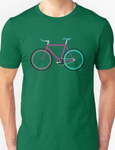 Simple Bike ~ Fixie Magenta Teal T-Shirt