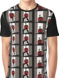 The Riker Maneuver (Sitting In Chair) Graphic T-Shirt