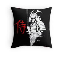 """SAMURAI""  by Carter L. Shepard Throw Pillow"