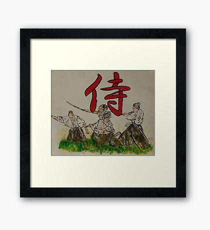 """Warrior""  by Carter L. Shepard Framed Print"
