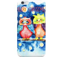 Two owls and a starry night iPhone Case/Skin