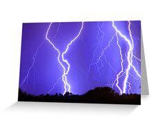 Power Raining Down Greeting Card